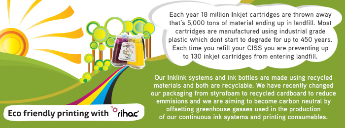 inlink from rihac is environmentally friendly and the best alternative to refilling cartridges
