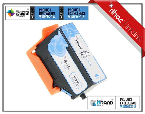 302XL Cyan Rihac Premium Ink Cartridge