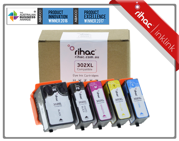 302XL Rihac Premium Ink Cartridge Set