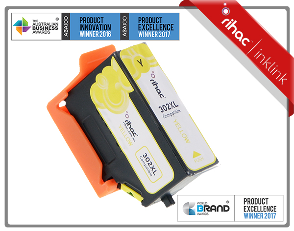 302XL Yellow Rihac Premium Ink Cartridge