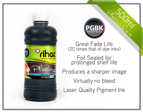 500ml Black Pigment Ink PGI-670 Compatible
