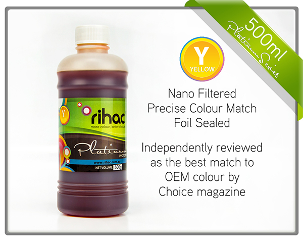 500ml Yellow ink 81 & 82n compatible
