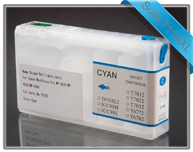 Workforce Pro 4090 & 4590 Refillable Cartridge Cyan