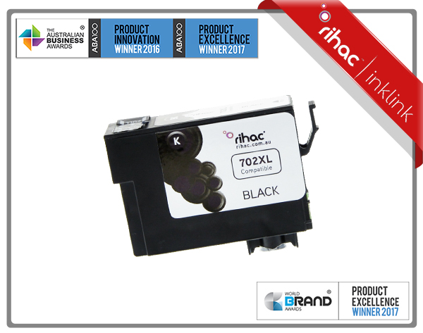 702XL Black Rihac Ink Cartridge