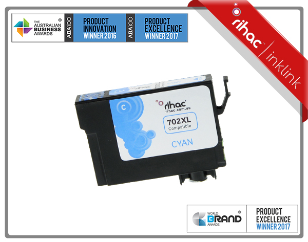 702XL Cyan Rihac Ink Cartridge