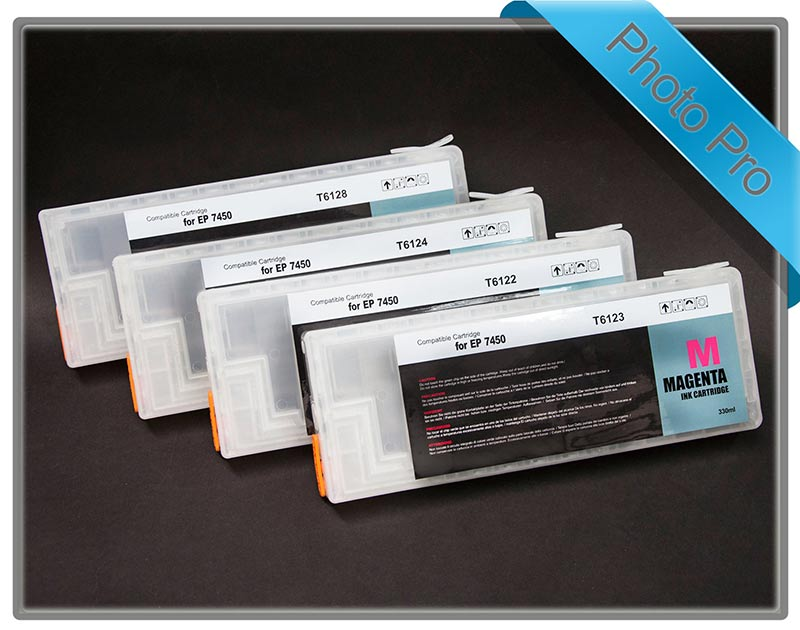 Stylus Pro 7450 4 x Refillable cartridge set
