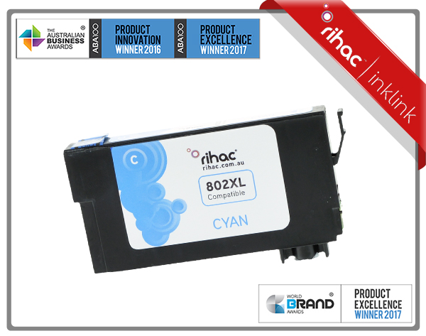 802XL Cyan Non Genuine Ink Cartridge
