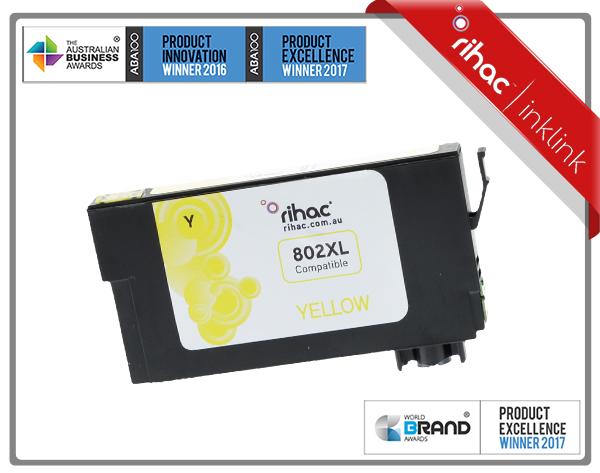 802XL Yellow Non Genuine Ink Cartridge