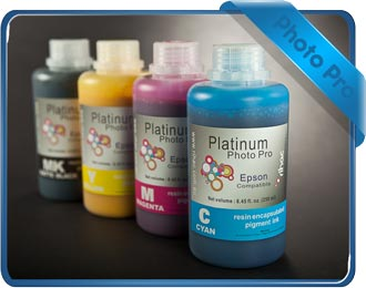 Photo Pro 4 x 250ml ink set with Matte Black (MK) - 4400