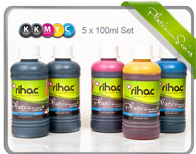 5 x 100ml inks to suit Canon CLI-651 & PGI-650 series