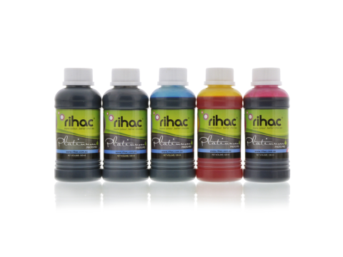 5 x 100ml Dye inks to suit Canon CLI-671 & PGI-670 series for Inklink CISS
