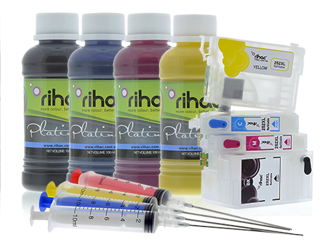 Epson 252 & 252XL Refillable Cartridges & Sublimation Ink Set