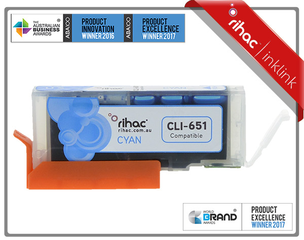 Rihac CLI-651XL Cyan Premium Cartridge