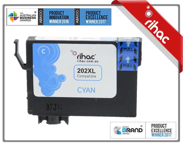 202XL Cyan Premium Single Use Cartridge