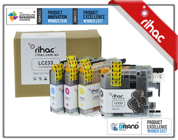 4 x Set of Rihac LC233 Ink Cartridge