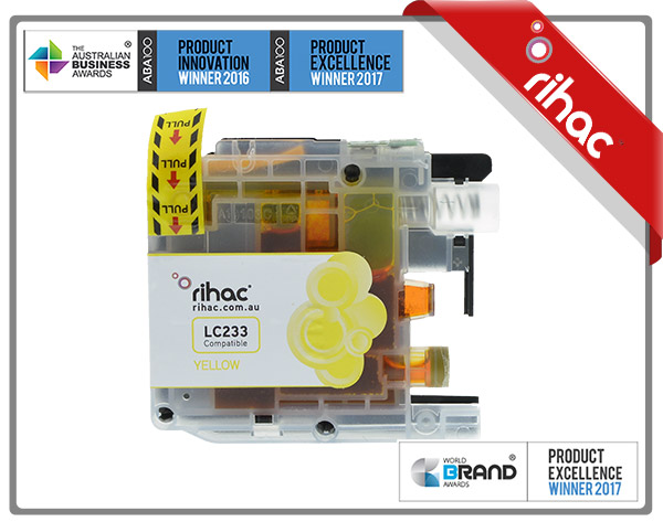 LC233 Rihac Yellow Ink Cartridge