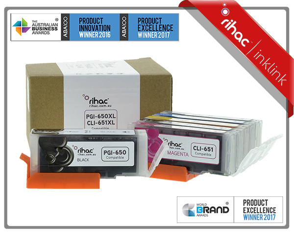 6 Set CLI-651XL & PGI-650XL Premium Rihac Cartridges