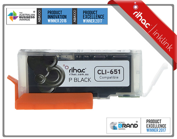 Rihac CLI-651XL Photo Black Premium Cartridge