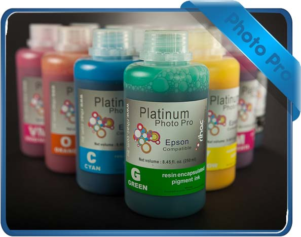 rihac CISS resin encapsulated pigment ink compatible with Epson Stylus Pro 7700, 7900, 7910, 9700, 9700, 9900,9910 cartridge T596B, T636B, T596B00, T642B00, T636B00 & T597B80