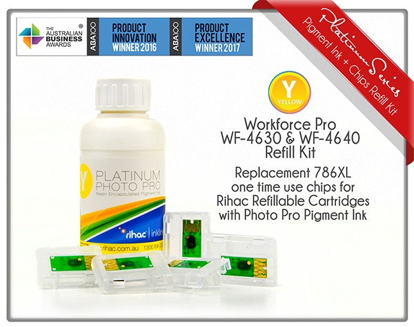 Workforce Pro WF-4630 and WF-4640 786/786XL Yellow Refill Kit