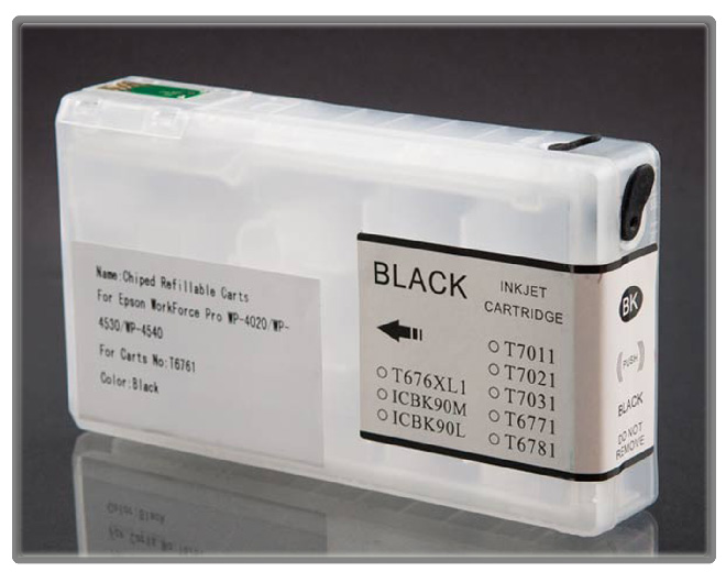 Workforce Pro 4530 and 4540 Refillable Cartridge Black