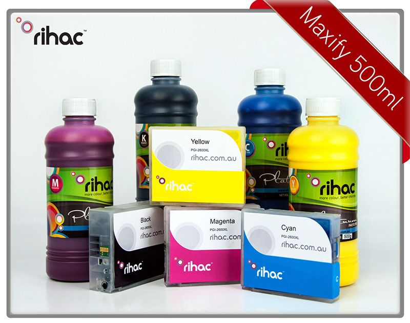 MB5460 Refillable Cartridge Set with 500ml Pigment Inks