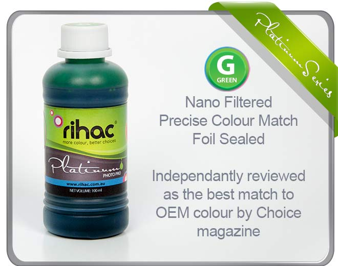 100ml Green ink -To Suit 8 Series Canon