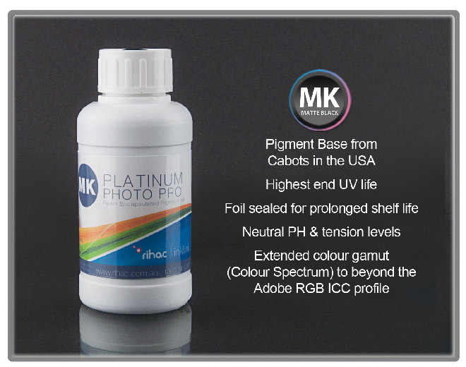 100ml Pigment Ink Matte Black 3880